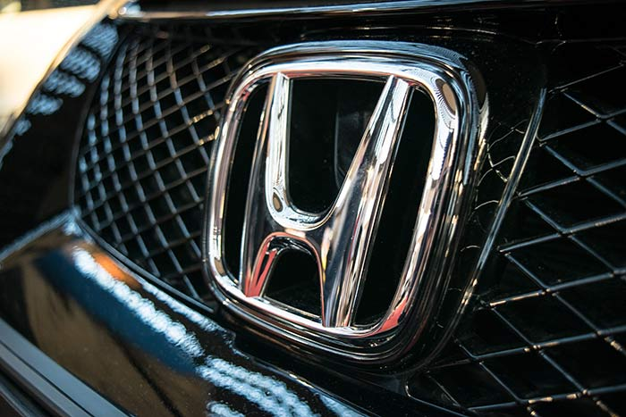 Honda Emblem from front grille of a Honda Civic