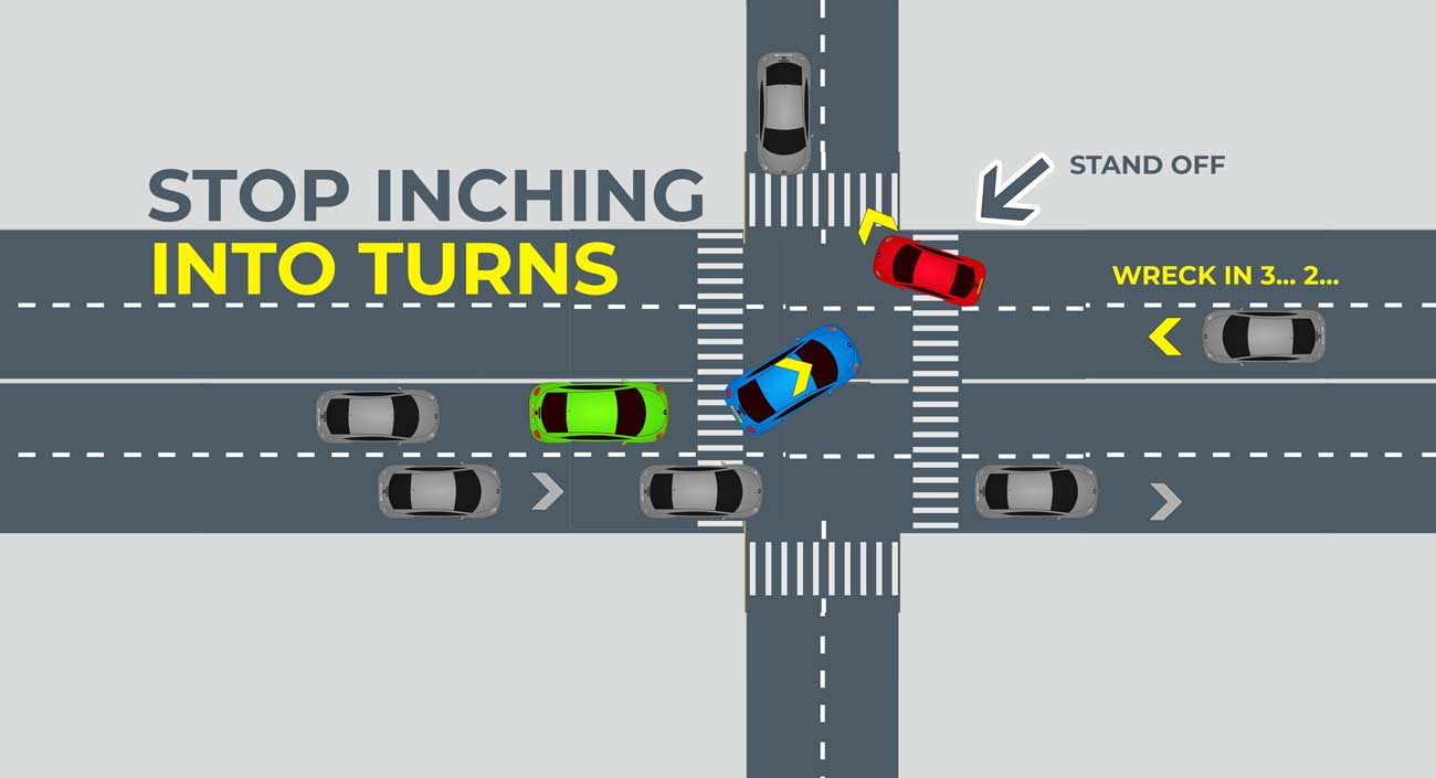 Stop inching forward while driving